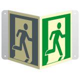 Wyjście ewakuacyjne (prawostronne) - znak ewakuacyjny, przestrzenny, ścienny 3D - Plan ewakuacyjny – co trzeba wiedzieć?