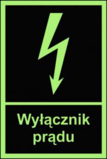 Wyłącznik prądu - znak przeciwpożarowy ppoż - BC007