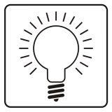 Wyłącznik światła - znak, naklejka kolejowa - SD025 - Znaki do pociągów – oznakowanie stosowane w wagonach pasażerskich