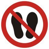 Zakaz chodzenia i stawania - znak bhp zakazujący - GAP024 - Szkolenie okresowe pracodawców i innych osób kierujących pracownikami