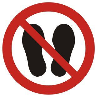 Zakaz chodzenia i stawania - znak bhp zakazujący - GAP024