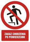 Zakaz chodzenia po powierzchni - znak bhp zakazujący - GC085