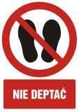 Zakaz deptania - znak bhp zakazujący - GC051 - Znaki BHP w miejscu pracy (norma PN-93/N-01256/03)