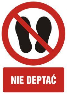 Zakaz deptania - znak bhp zakazujący - GC051