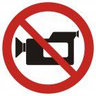 Zakaz filmowania - znak bhp zakazujący - GB021