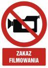 Zakaz filmowania - znak bhp zakazujący - GC046