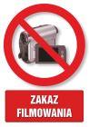 Zakaz filmowania - znak informacyjny - PC104