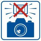 Zakaz fotografowania z użyciem lamp błyskowych - znak informacyjny - RA504