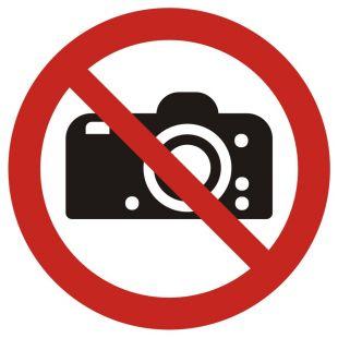 Zakaz fotografowania - znak bhp zakazujący - GAP029