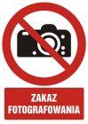 Zakaz fotografowania - znak bhp zakazujący - GC045