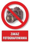 Zakaz fotografowania - znak informacyjny - PC101