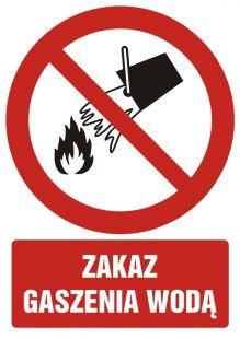 Zakaz gaszenia wodą - znak bhp zakazujący - GC055