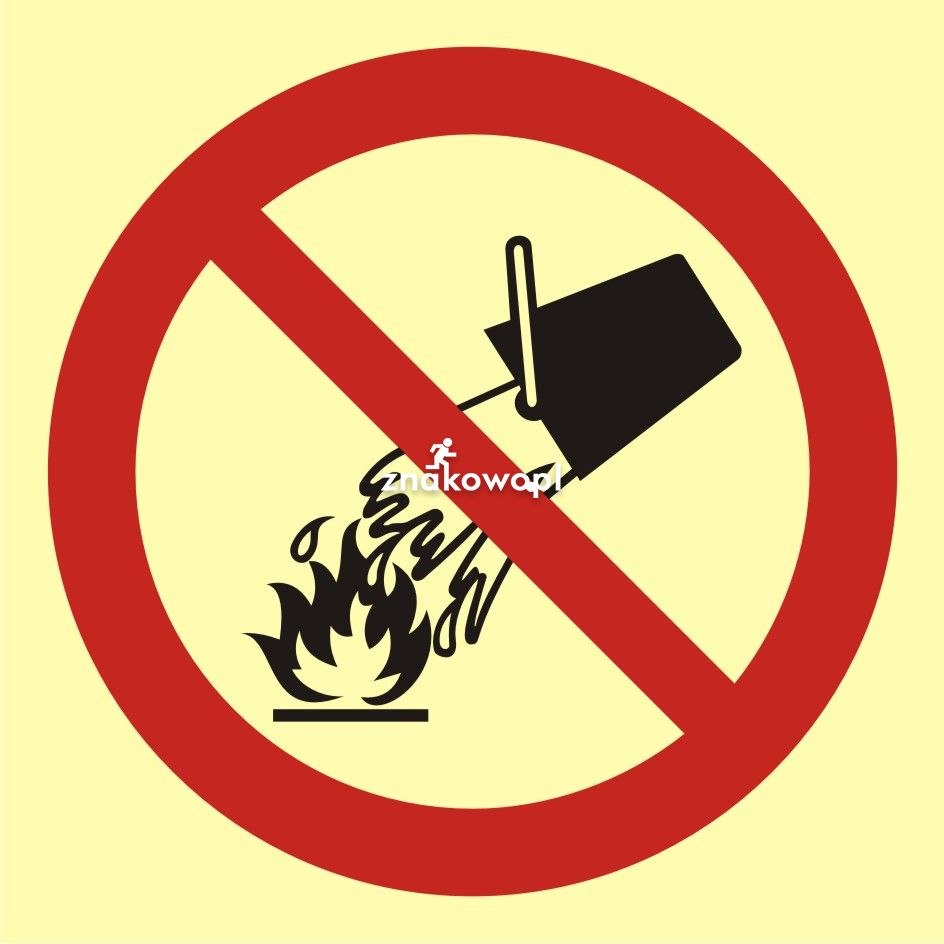 Zakaz gaszenia wodą - Plac budowy – znaki i tablice