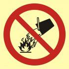 Zakaz gaszenia wodą - znak przeciwpożarowy ppoż - BA003
