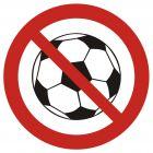 Zakaz gry w piłkę - znak bhp zakazujący - GB035