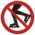Zakaz jazdy na łyżworolkach - znak informacyjny - PA023