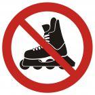 Zakaz jazdy na rolkach - znak bhp zakazujący - GB037