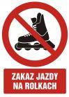 Zakaz jazdy na rolkach - znak bhp zakazujący - GC067