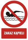 Zakaz kąpieli - znak bhp zakazujący - GC041