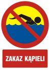 Zakaz kąpieli - znak, kąpieliska - OH500