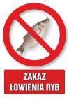Zakaz łowienia ryb - znak informacyjny - PC103
