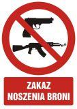 Zakaz noszenia broni - znak bhp zakazujący - GC042 - Znaki BHP w miejscu pracy (norma PN-93/N-01256/03)