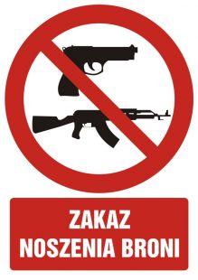Zakaz noszenia broni - znak bhp zakazujący - GC042