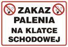 Zakaz palenia na klatce schodowej - znak zakazujący - NE007