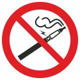 Zakaz palenia papierosów elektronicznych - znak bhp zakazujący - GB042 - Palenie tytoniu – gdzie obowiązuje zakaz, a gdzie wolno palić?