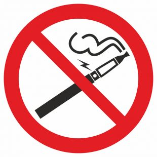 Zakaz palenia papierosów elektronicznych - znak bhp zakazujący - GB042