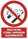 Zakaz palenia tytoniu i papierosów elektronicznych - znak bhp zakazujący - GC071