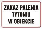 Zakaz palenia tytoniu w obiekcie - znak zakazujący - NE005
