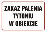 Zakaz palenia tytoniu w obiekcie - znak zakazujący - NE005 - Biurowiec – jakie oznaczenia są konieczne?