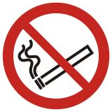 Zakaz palenia tytoniu - znak bhp zakazujący - GAP002 - Palenie tytoniu – gdzie obowiązuje zakaz, a gdzie wolno palić?
