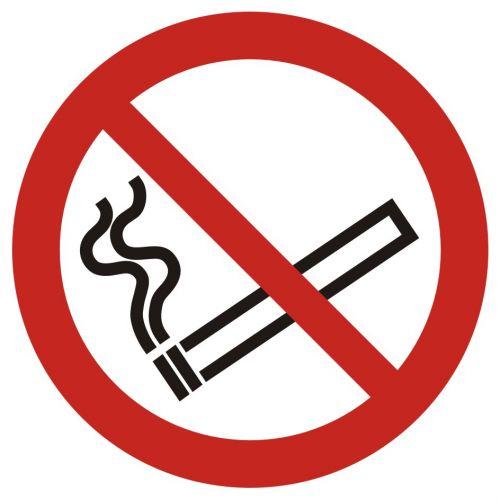 Zakaz palenia tytoniu - znak bhp zakazujący - GAP002 - Magazyny i hurtownie – znaki bezpieczeństwa i PPOŻ