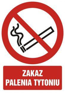 Zakaz palenia tytoniu - znak bhp zakazujący - GC053