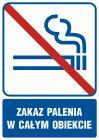 Zakaz palenia w całym obiekcie - znak informacyjny - RB504