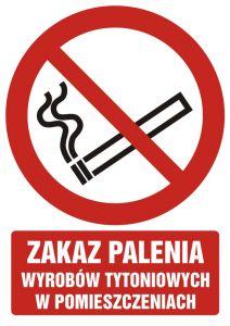 """Zakaz palenia wyrobów tytoniowych w pomieszczeniach - znak bhp zakazujący - GC068 - """"Nie"""" dla e-papierosów w miejscach publicznych"""