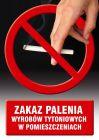 Zakaz palenia wyrobów tytoniowych w pomieszczeniach - znak informacyjny - PC510