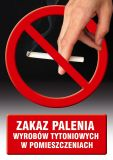 Zakaz palenia wyrobów tytoniowych w pomieszczeniach - znak informacyjny - PC510 - Lokal gastronomiczny – o jakich znakach należy pamiętać?