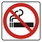 Zakaz palenia - znak, naklejka kolejowa - SD004