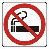 Zakaz palenia - znak, naklejka kolejowa - SD004 - Znaki do pociągów – oznakowanie stosowane w wagonach pasażerskich
