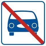 Zakaz parkowania - znak informacyjny - RA517 - Garaże dla samochodów osobowych