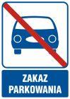 Zakaz parkowania - znak informacyjny - RB508