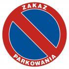 Zakaz parkowania - znak PCV, naklejka - SA009