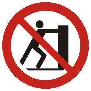 Zakaz pchania - znak bhp zakazujący - GAP017