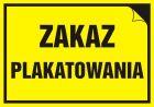 Zakaz plakatowania - znak informacyjny - PA032
