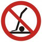 Zakaz podnoszenia wózkiem - znak bhp zakazujący - GB029