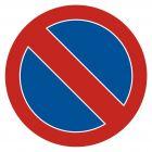 Zakaz postoju - znak PCV, naklejka - SA008