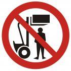 Zakaz przebywania pod ciężarem - znak bhp zakazujący - GB003